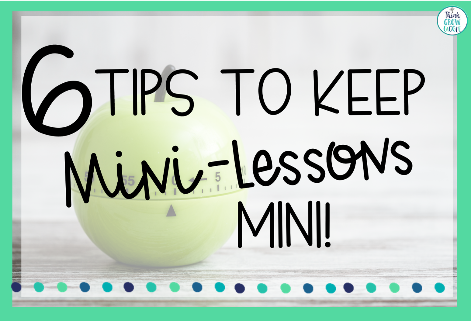 mini lesson strategies