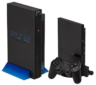 Imagen de la Play Station 2 de Sony de color negro