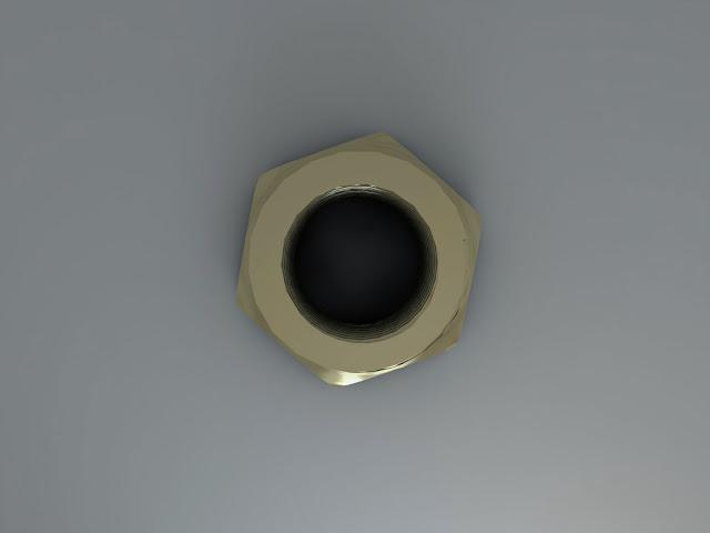 AutoCAD 3D y Render - pieza 5 - Reducción hexagonal 9