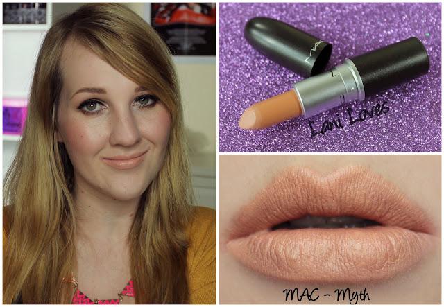MAC Myth lipstick swatch