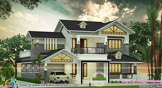 Nice looking sloping roof 4 bedroom house 2390 sq-ft