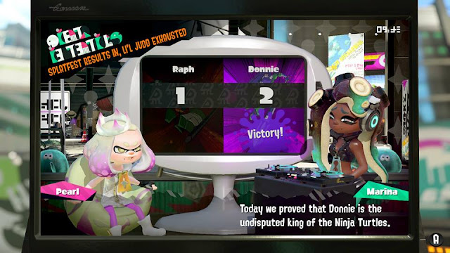 Splatoon 2 Splatfest Donnie Donatello wins victory TMNT Teenage Mutant Ninja Turtle tournament undisputed king Marina