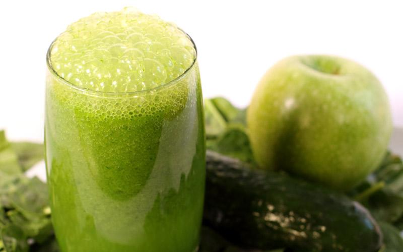 Batido verde con espinacas