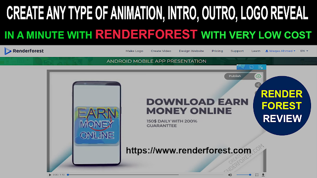 Renderforest: CREATE ANY TYPE OF ANIMATION, INTRO, OUTRO, LOGO REVEAL in minute