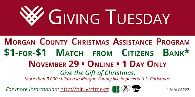 #GivingTuesday Morgan County Christmas Assistance Program