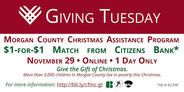 #GivingTuesday Morgan County Christmas Assistance Program
