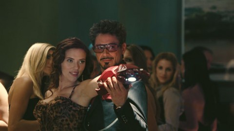 Tony Stark dancing with Natalie Rushman in Iron Man 2 movieloversreviews.filminspector.com