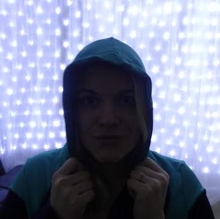 woman in sports hoodie