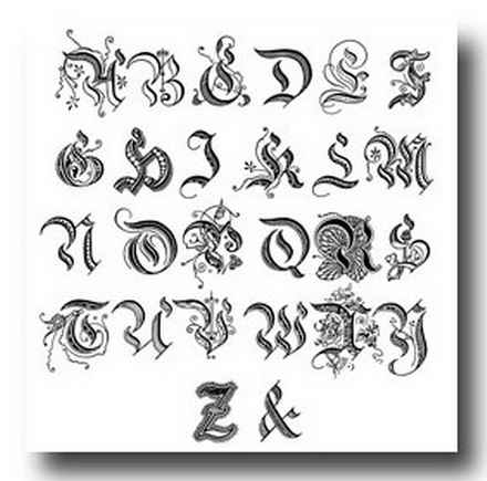 Calligraphy Alphabet A to Z Styles and Samples