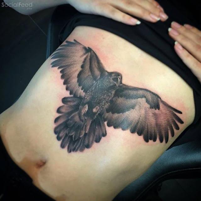 Sternum Tattoos Ideas For Women