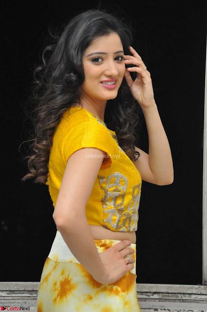 Richa Panai in Yellow Slim Fit Crop top ~ CelebxNext 006.JPG