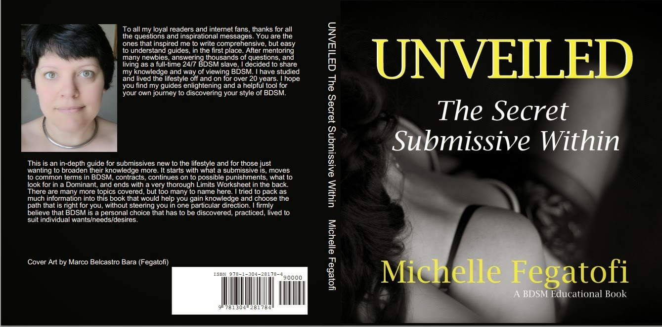 Michelle Fegatofi's Unveiled The Secret Submissive Within - non fiction educational book