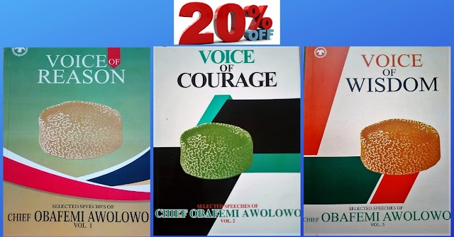20% OFF Chief Obafemi Awolowo Books