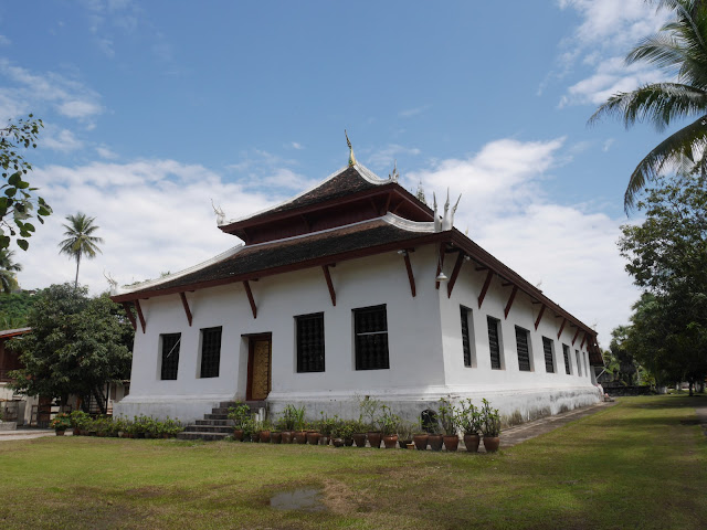 western-style Buddhist temple building in Luang Prabang