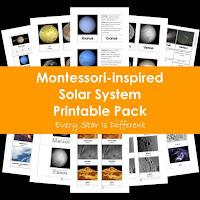 Montessori-inspired Solar System Printable Pack
