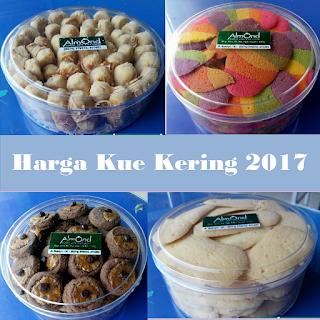 Harga Kue Kering 2017, Harga Kue Kering per toples 2017, Harga Kue Kering Parcel, Harga Kue Kering per toples