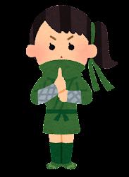 くノ一のイラスト(緑)