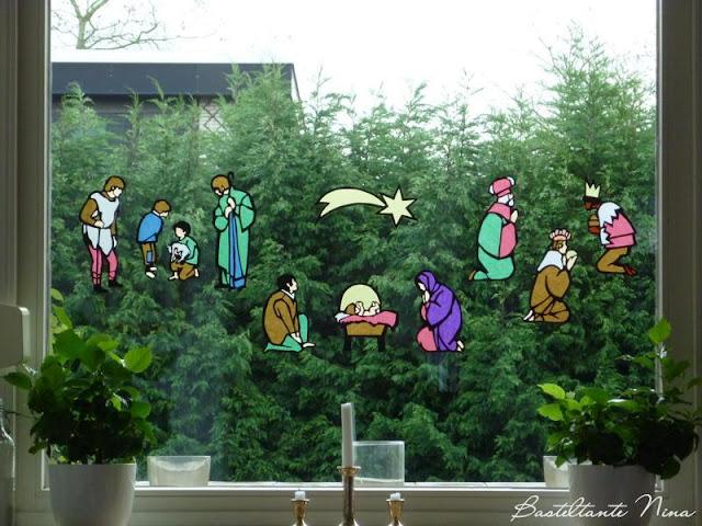 Waldorf Grosses Fensterbild Krippe Fensterbilder 4