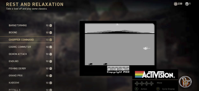 Call of Duty: WWII contiene 15 juegos retro de Atari 2600