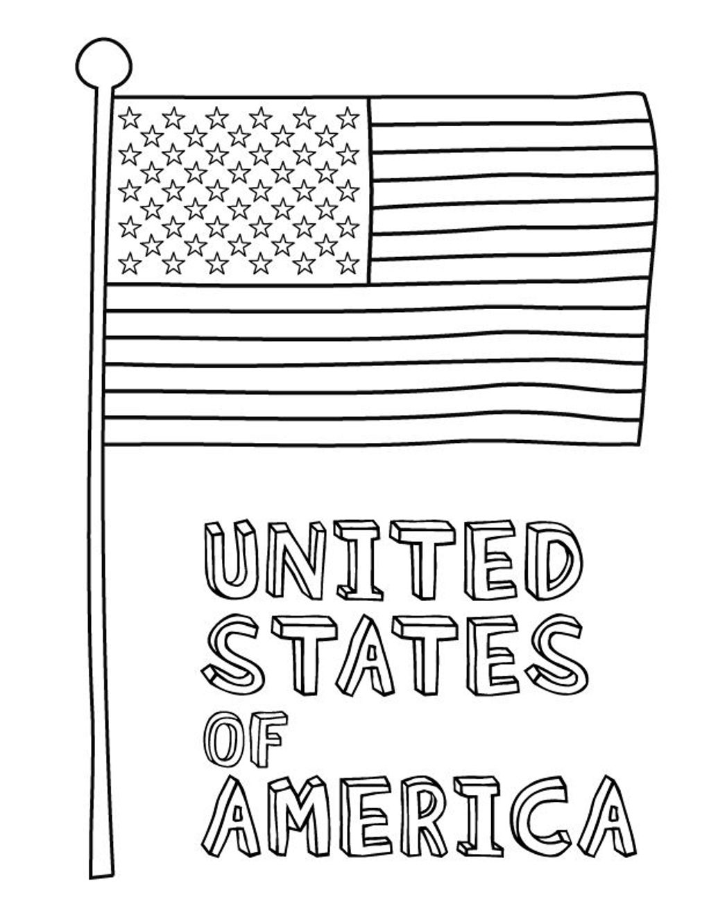 Flag Coloring Pages - Eskayalitim