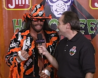 WCW HALLOWEEN HAVOC 96 REVIEW: Macho Man Randy Savage announced the Slim Jim Monster Truck Winner