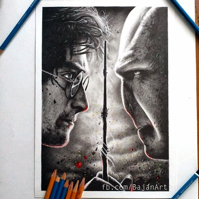 11-Daniel-Radcliffe-Harry Potter-Łukasz-Andrzejczak-Colored-Pencil-WIP-Drawings-www-designstack-co