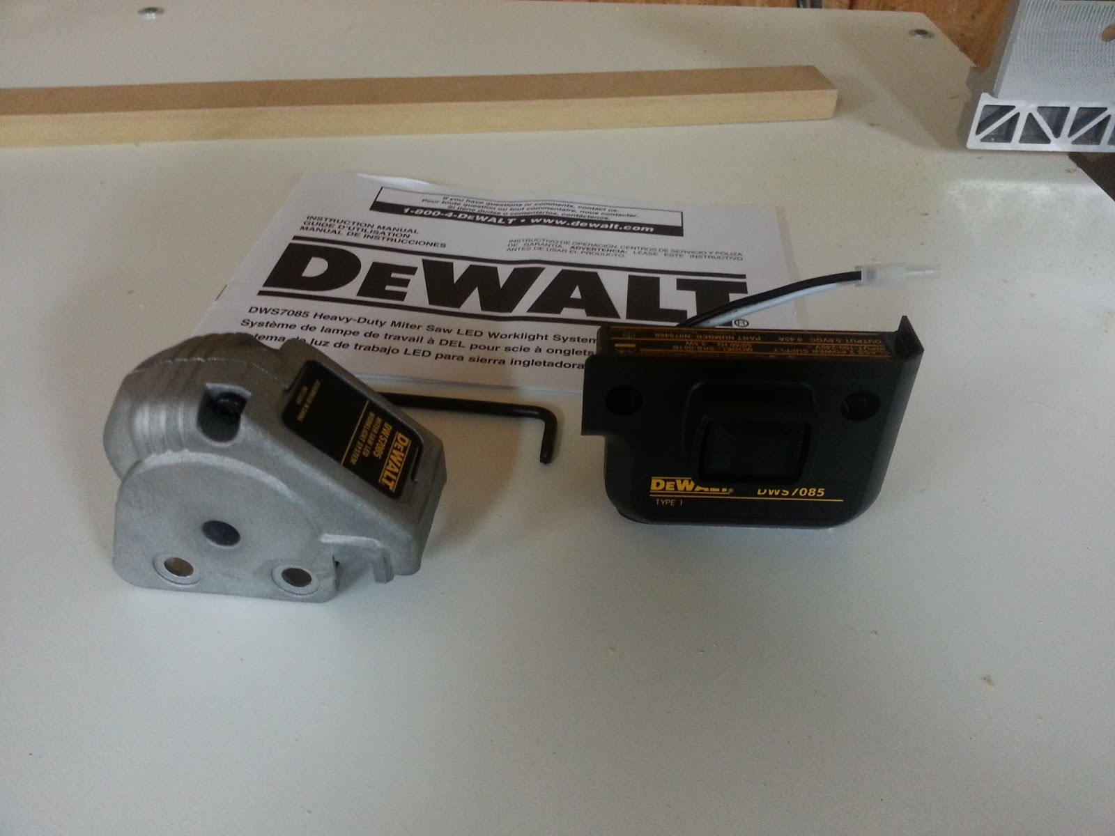 Az Diy Guy S Projects Installing An Led Miter Saw Worklight