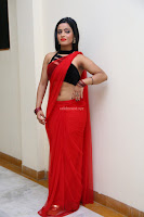 Aasma Syed in Red Saree Sleeveless Black Choli Spicy Pics ~  Exclusive Celebrities Galleries 020.jpg