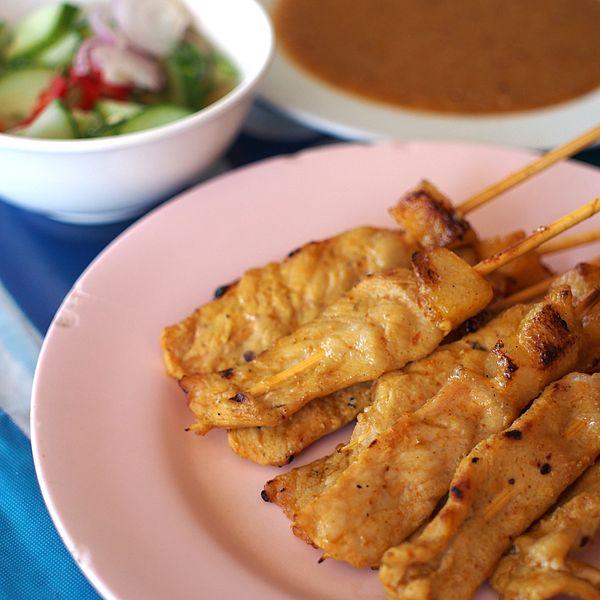 bangkok street food satay