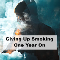 Giving Up Smoking - Man masked by a cloud of smoke