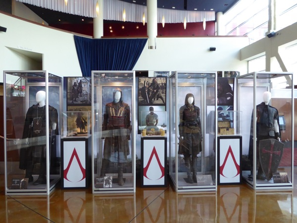 Assassins Creed movie costume prop exhibit