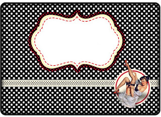 Pin Up in Red, White and Polka Dots: Free Printable Candy Bar Labels.