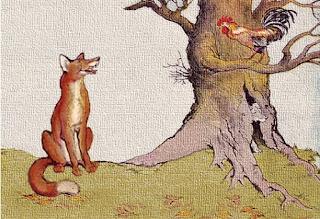 Il cane, il gallo e la volpe - Esopo