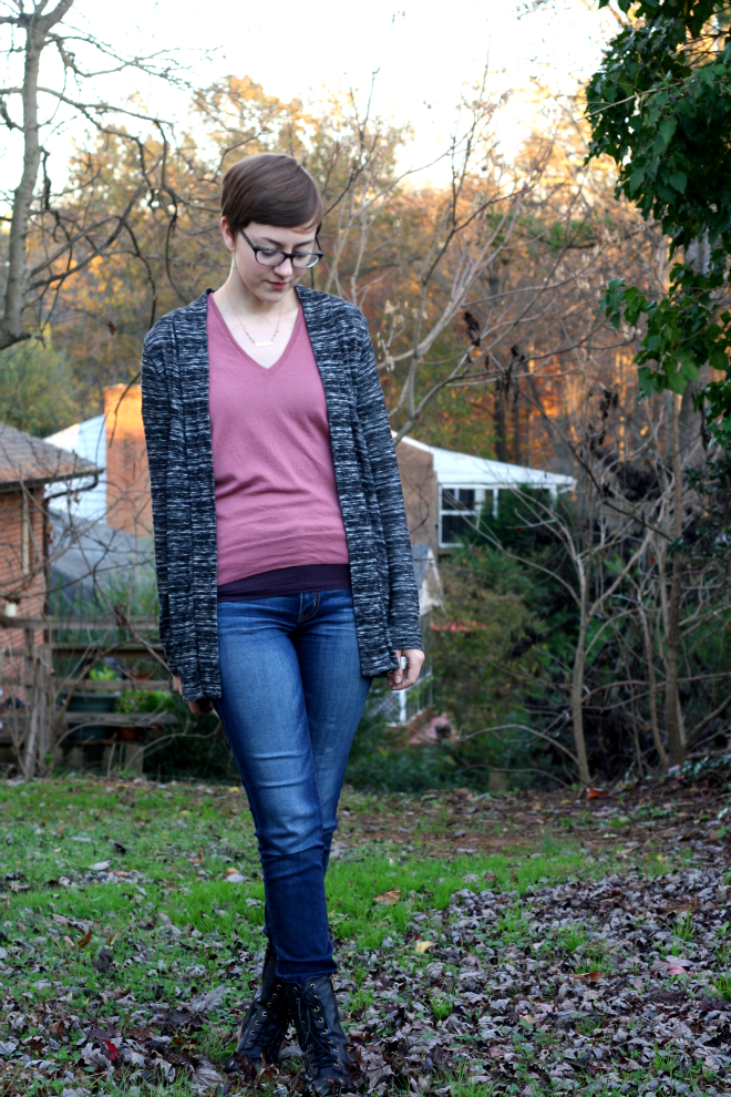 personal style post dusty rose sweater