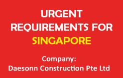 Apply for Latest Jobs in Daesonn Construction Pte Ltd