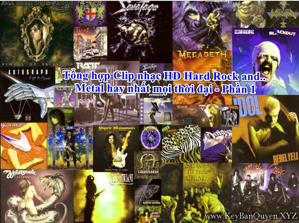 Tổng hợp Clip nhạc HD Hard Rock and Metal hay nhất mọi thời đại - Phần 1 - [MKV]