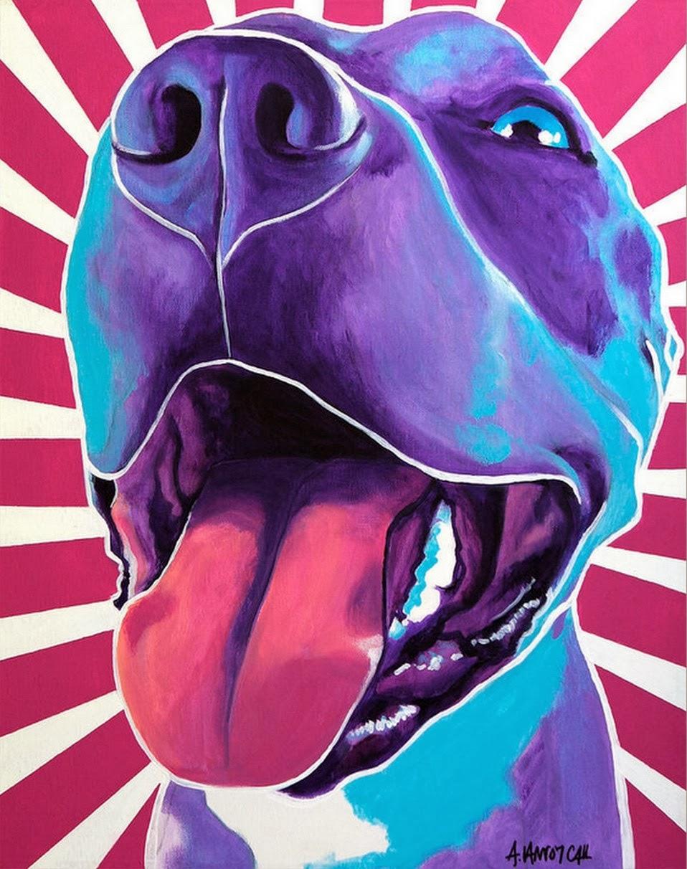 Cuadros modernos pinturas y dibujos como perros y gatos - Cuadros pintura acrilica moderna ...
