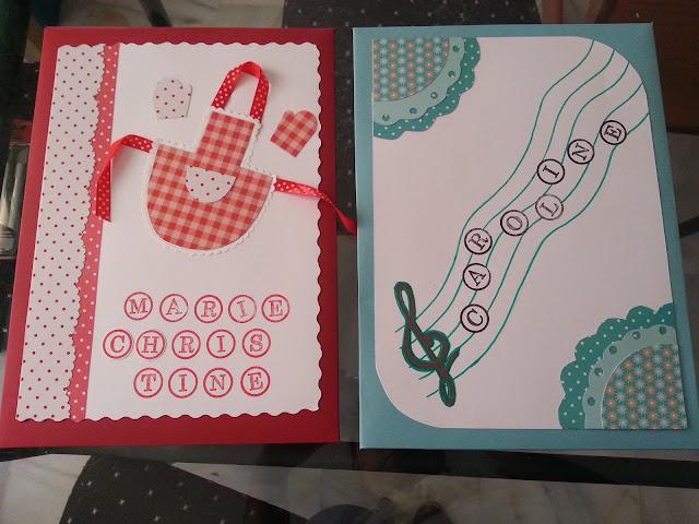 Sobres DIY scrapbook personalizados para las profesoras de mi hijo