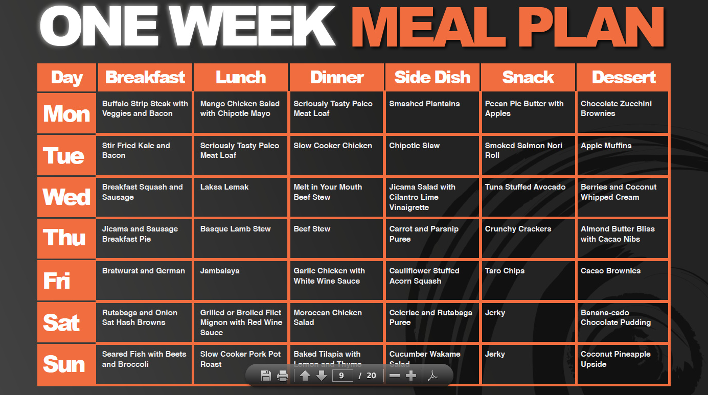 Clean Eating Meal Plan Week 4 Housewife2hostess