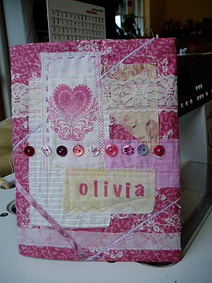 image fabric book cover shabby chic tutorial diy the slightly mad quilt lady