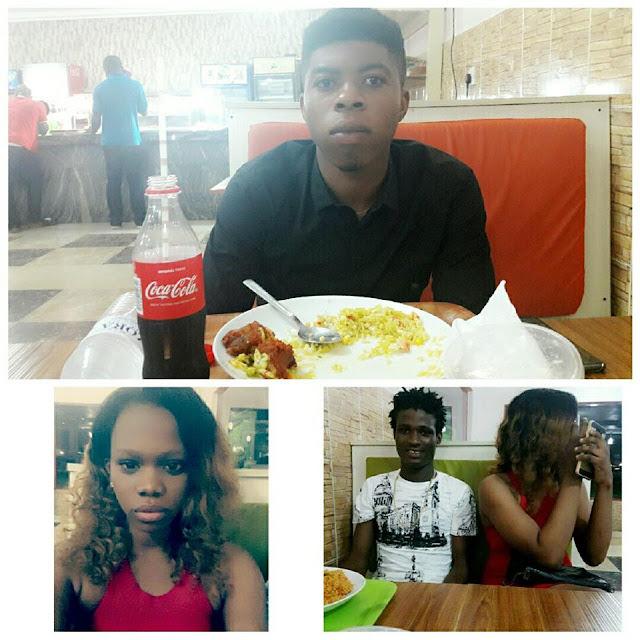 Popuar Blogger Larry Frank Meets Alexander Orah And His Girlfriend Oluchi In Port Harourt