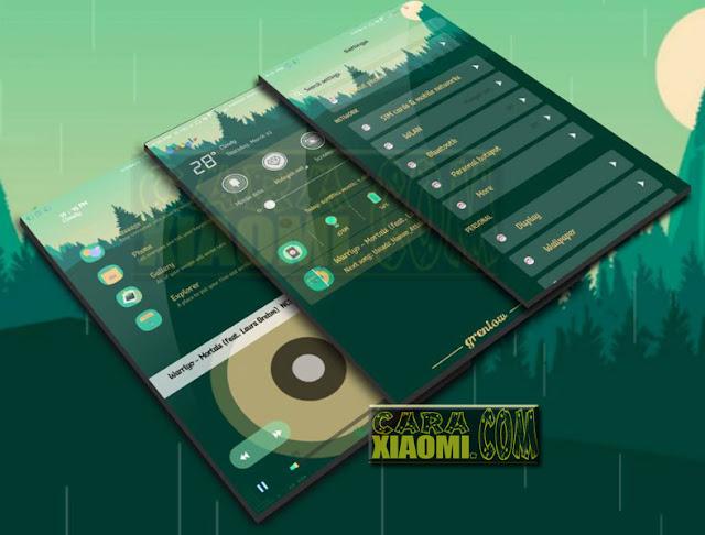 Download Tema Xiaomi MIUI Green low Mtz Update Theme For V9 Theme