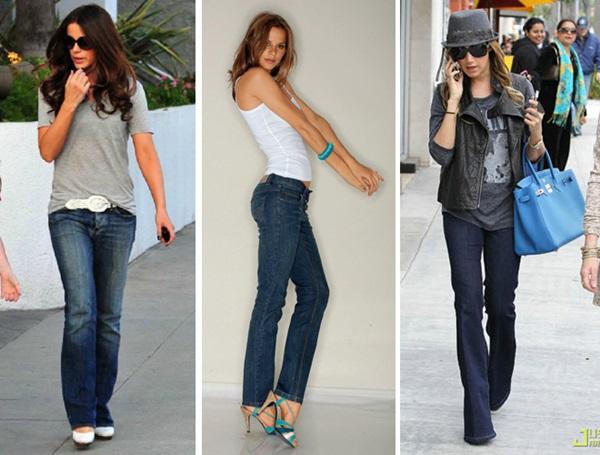 Calça Jeans de Corte Reto