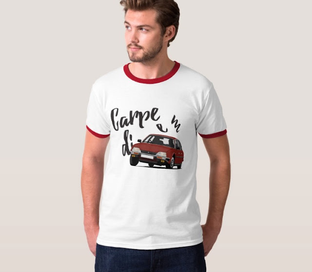 Carpe diem with Citroën CX -  t-shirt
