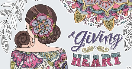 Review: A Giving Heart coloring book for Mom's
