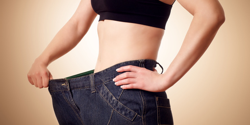 Vor und nach dem richtigen Gewichtsverlust