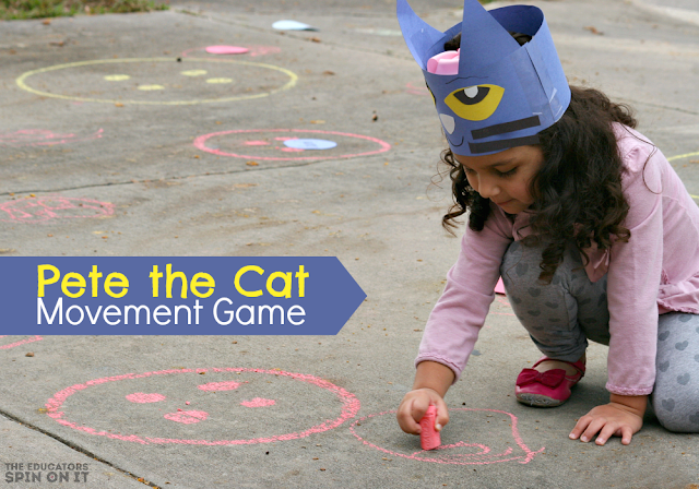 Pete the Cat Movement Activity for Kids by The Educators' Spin On It