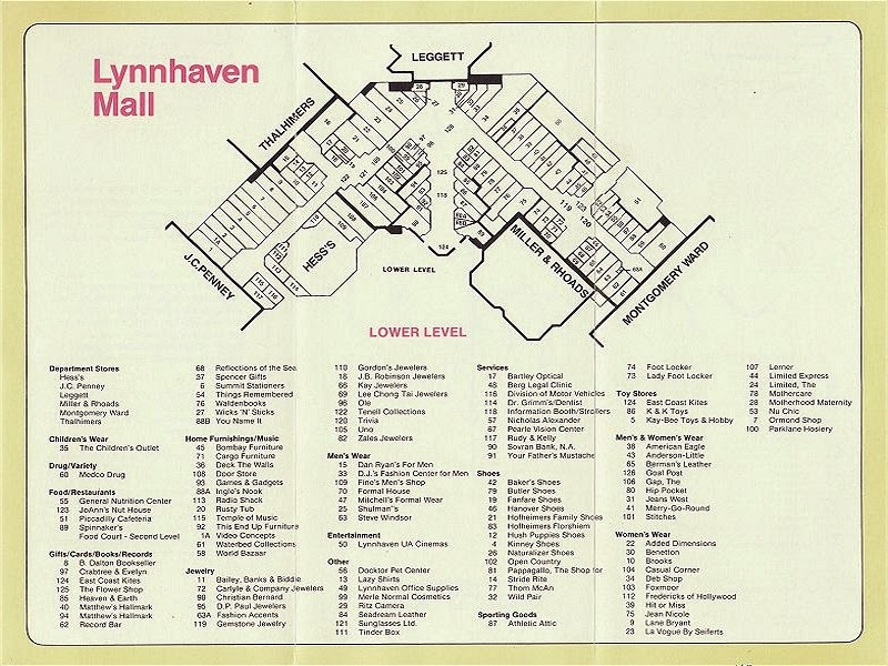 The Mallmanac: Malls of My Youth - Lynnhaven Mall, Virginia