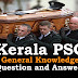 Kerala PSC General Knowledge Question and Answers - 30