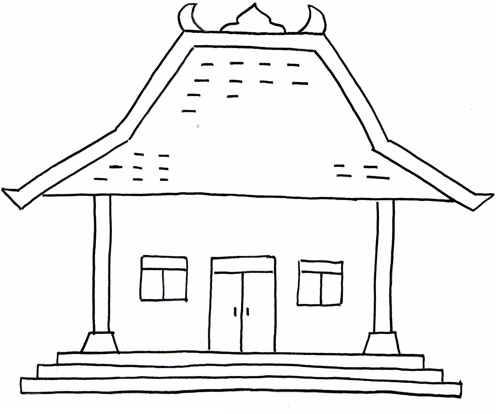 tren gaya 33 gambar hitam putih rumah gadang pemandangan
